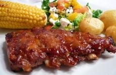 Barbeque Spareribs med Grillede grøntsager og kartofler 1