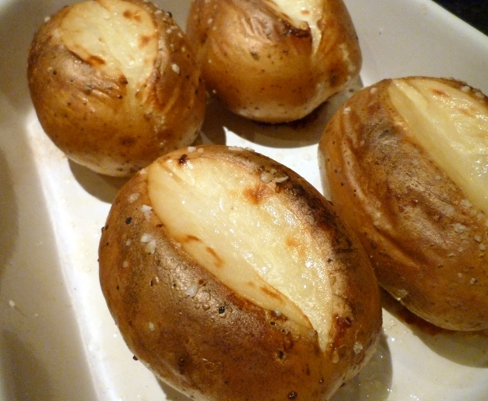 Bagekartofler på grill